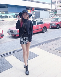 Jennifer Marcellina - Cotton On Hat, H&M Boots - Black winter