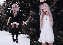 Anna Jaroszewska - Zara Black Cardigan, H&M Lace Dress, Alchemy Gothic Necklace - New year's resolutions