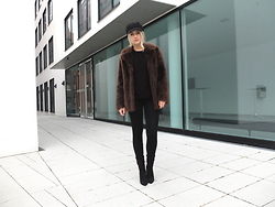 Miriam Mache - Asos Marketplace Jacket, Justfab Boots - Black Hat