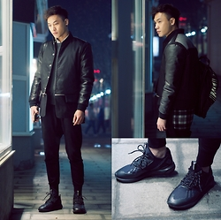 Chris Su - Mcm Coat, Adidas Sneakers - Monday,Shopping Mall