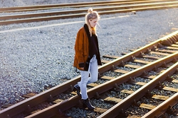 Ruth Van Soom - Vintage Coat, Levi's® Jeans, Dries Van Noten Boots, Cos Knit - Backlight