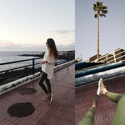 KRST VIEW - Asos Sunglasses, Lindex Sweater, United Colors Of Benetton Pants, Nike Sneakers - NIKE X KHAKI