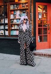 "Rachel Lynch - Christian Dior Sunglasses, Lioness Penny Lane Dress, Lack Of Color Black Hat - ""hard to explain"" -- the strokes"