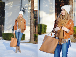 Sispolitan Lach - Sinsay Beanie, New Yorker Scarf, Mango Bag, Stradivarius Jeans, Stradivarius Shoes, Stradivarius Shirt, Michael Kors Watch - Warm Winter