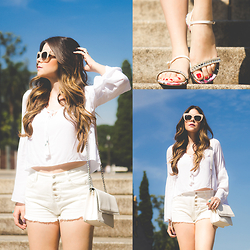 Luise Bosquê - Stephanie Classic Flats - White All Over