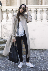 Bianca D - Burberry Trench Coat, Asos Sneakers - It's Been A While