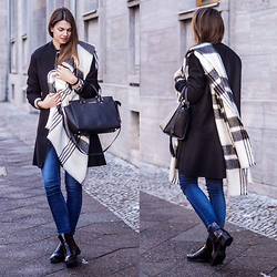Jacky - Zara Scarf, Michael Kors Bag, Pepe Jeans, Cos Coat - Blue Jeans for a Change