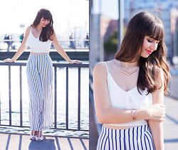 Sarah K. - New Look Cropped Top, New Look Palazzo - Harbour Girl