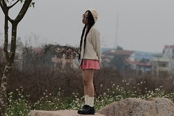 Dez ☹ - Vagabond Shoes, Beret - Cotton candy and sadness