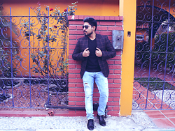 Pepe Vela - Zara Shoes, Pull & Bear Jeans, American Eagle Outfitters Sweater, Blazer - Sunday fun day