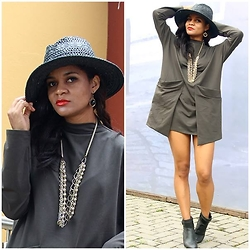 Siça Ramos - Shein Dress, Renner Hat - No Estilo Retro