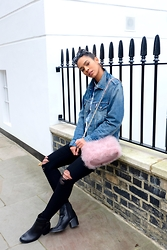 Elvira Vedelago - Levi's® Men's Denim Jacket, Topshop Real Feather Bag, Cheap Monday Ripped Jeans, Aldo Becka Ankle Boots - I Want That Sugar Sweet