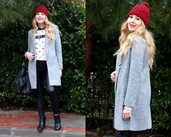 Melislicious Blog - Sheinside Coat, Bershka Pants, Mango Bag, Terranova Sweatshirt, Sheinside Coat - Dreamer