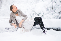 Gabriela A. - Mango Jacket, Sweet Paprika Dress - Snow elegance