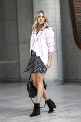 Christina Roys - Katies Jacket, H&M Skirt - Pink Moto