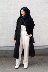 Kat I. - Cubus Scarf, Sammy Dress Coat, The Fifth Watch, The Fifth Via Bnkr Jumpsuit, Zara Shoes - Mf/011917