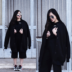 Fae Maaliw - Zara Tees, Pull & Bear Culottes, Bershka Oversized Jacket, Forever 21 Sunnies, Nike Airmax 1 - It's Too Late
