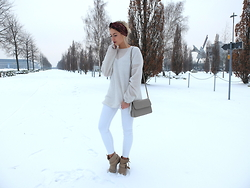 Miriam Mache - Zara Jeans, Mango Sweater - White on white