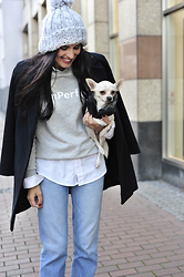 The Day Dreamings - Zara Jeans, Esprit Sweatshirt, Oasap Coat, Primark Hat - Weekends are for family
