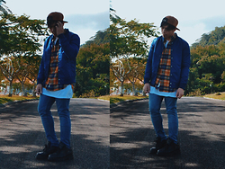 Ronwell Lim - Forever 21 Bomber Jacket, H&M Flannel Shirt, H&M Long Tee - Rising Sun