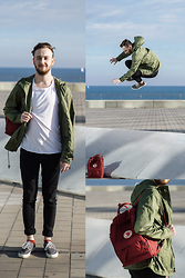FRIDOANDLENN - Weekday Weekdays Shirt, Farah Jacket, Vans, Cheap Monday Pants, FjÄllrÄven Backpack - FEELING FREE