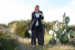 Cosmina M. //mbcos.net - The Fever Collection Wig, Dressin Necklace, Dots Trousers - Pink hair .don't care