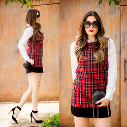 Luise Bosquê - Alice's Pig Plaid Dress - Alice's Pig