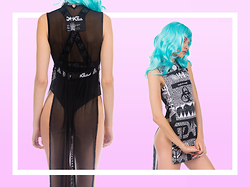 Eros Mortis - Damage No Signals Dress, Damage Logo Body Suit - Malware