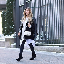 Fashiontwinstinct - Otto Cardigan, Otto Long Blouse, Zara Pants, Saint Laurent Bag - #MBFWB Day 1.