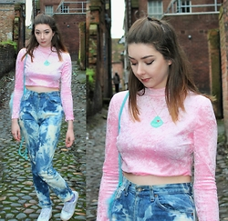 Nichola Rose - The Ragged Priest Crop Top, We Are Cow Jeans - PINK VELVET