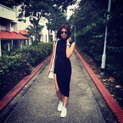 Cassey Cakes - Mango Turtleneck Top, Nike Triple White Sneakers - Saturday Stroll in Singapore