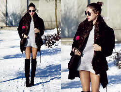 Ceci Bloom - Zara Coat, Zara Clutch, Zara Boots - SHORT