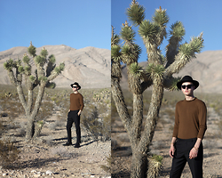 Patrick Pankalla - Zara Blouse, H&M Trousers, Acne Studios Sunglasses, H&M Fedora Hat, Ecco Shoes - In The Desert
