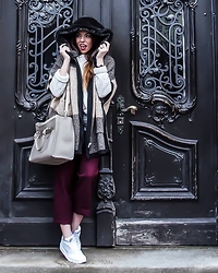 Caterina Catalano - Zara Cape, Zara Culottes, Zara Bag, Nike Sneakers, Mango Cardigan - Winter Sundays
