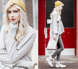 Ebba Zingmark - Urban Outfitters Coat, Promod Sweater, Cheap Monday Jeans, Timberland Shoes, Monki Tee - MESSED UP