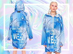 Eros Mortis - Whatever 21 Test Type Rainjacket, Damage Globe Choker - Ebae