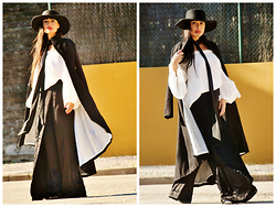 Nekane Smith - Yoins Coat, Zara Pants, Zara Hat, Zara Tie - Story Of My Life