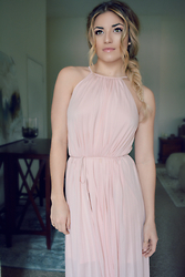 Caitlynn Lawson - Mossimo Blush Pink Dress, Guess Rose Gold Earrings - Sunday Best
