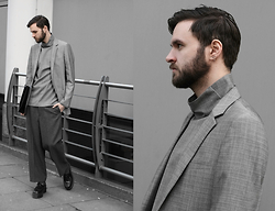 Geraint Donovan-Bowen - Topman Blazer, Cos Top, River Island Clutch, Topman Trousers, Dr. Martens Shoes - His Name Is Granite