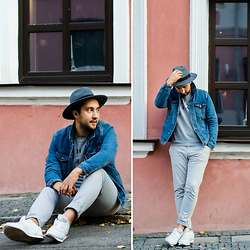 Ilya Trifonenkov - H&M Hats, Forever 21 Outerwear, Mango Sweatshot, Mango Pants, Pull & Bear Sneakers - GIVEAWAY: IN THE BAG