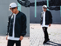 Ronwell Lim - H&M Bomber Jacket - Deep Green