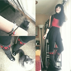 Amethyst . - Betseyville Heart Boots, Hottopic I Choose You Bracelet - Everyday is Valentine's day
