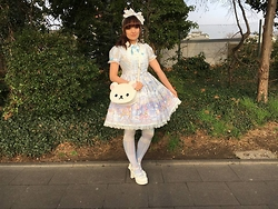 Dorothea Untan Dihel - Angelic Pretty Fantasic Carnival, Bodyline Shoes, Loris Bag - Sweet Lolita
