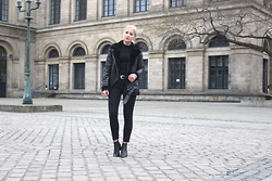 Miriam Mache - Only Jacket, Sixty Seven Shoes - Black shearling jacket