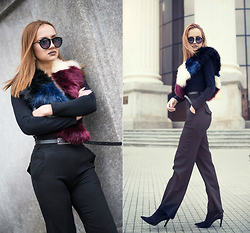 Inside the B World - Zara Boots, Missguided Pants - The collar