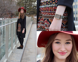 Taylor Doucette - Workhall Black Tank, Boohoo Black Duster, Target Booties, H&M Wide Brim Hat, Marc By Jacobs Taupe Square Watch, H&M Beaded Skirt - Fair-Weather Friend- Clay Borrell