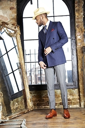 Martell Campbell - Brixton Staw Hat, Oliver Sweeney Blazer, Oliver Sweeney Tan Leather Oxford Shoes - In My Classic Days