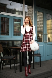 Valeriya Sytnik - Zara Dress, Zara Boots, Vstore Bag - The Mood of 60s!!