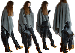 KRST VIEW - Zara Bag, Forzieri Poncho, Massimo Dutti Boots, Reserved Gloves, Zara Pants - CASHMERE