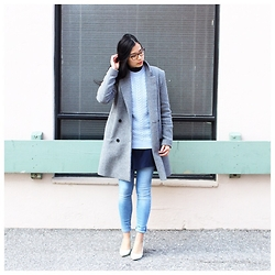 Rose . - Zara Coat, Zara Sweater, American Eagle Outfitters Jeans, Le Chateau Heels - The Power of Layering